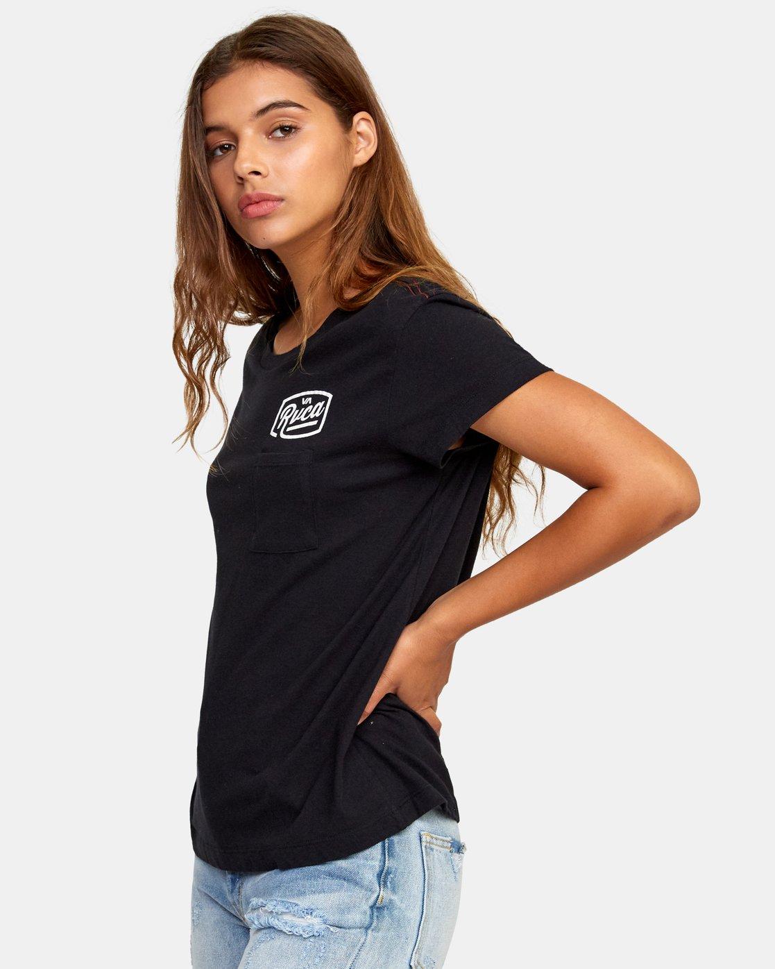 1 Phil Street Pocket T-Shirt Black W412WRPH RVCA