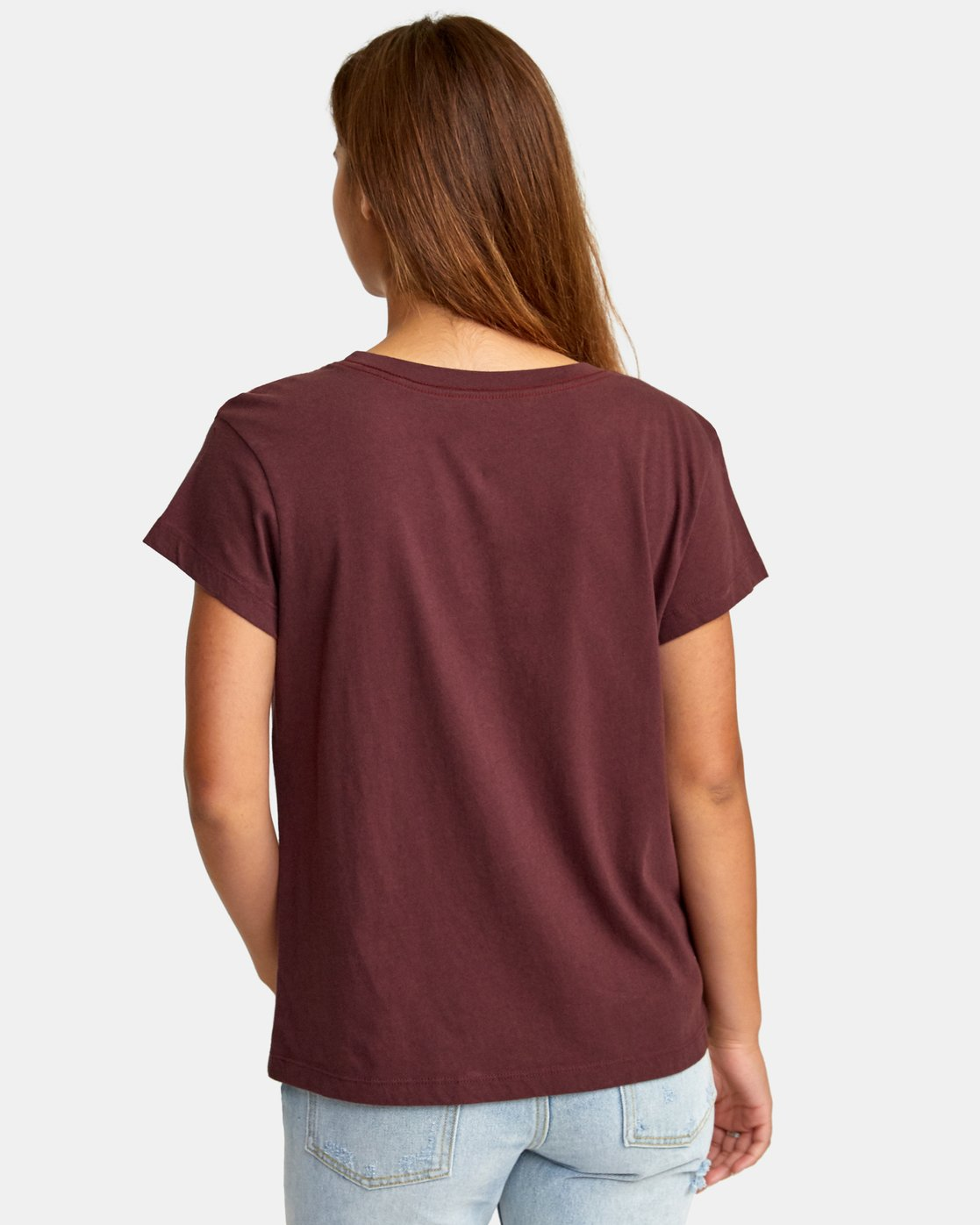 2 Phil Street Pocket T-Shirt Brown W412WRPH RVCA