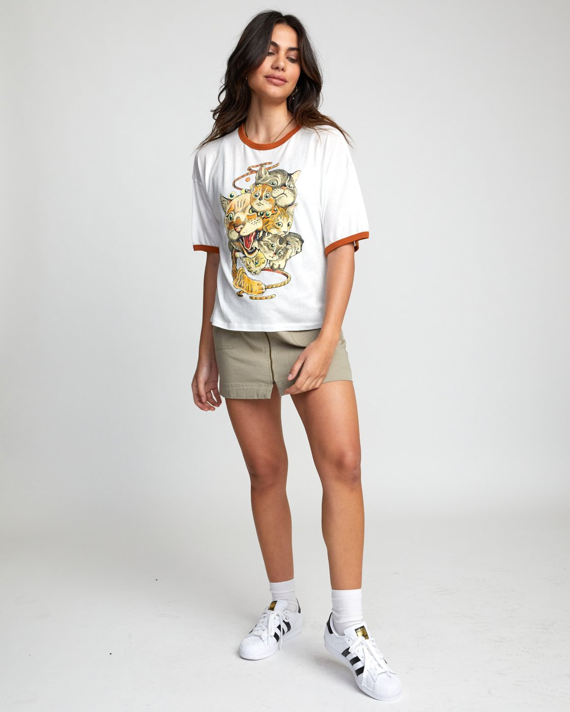 1 SHINTARO CATS TEE White W4143RSC RVCA