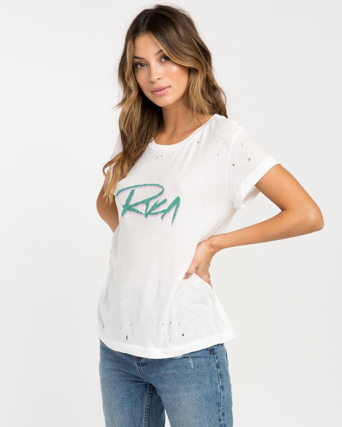 1 Skratch T-Shirt White W420PRSK RVCA