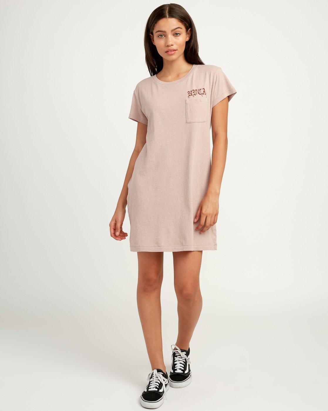 4 Bert Krak OE T-Shirt Dress Multicolor W426QRBE RVCA