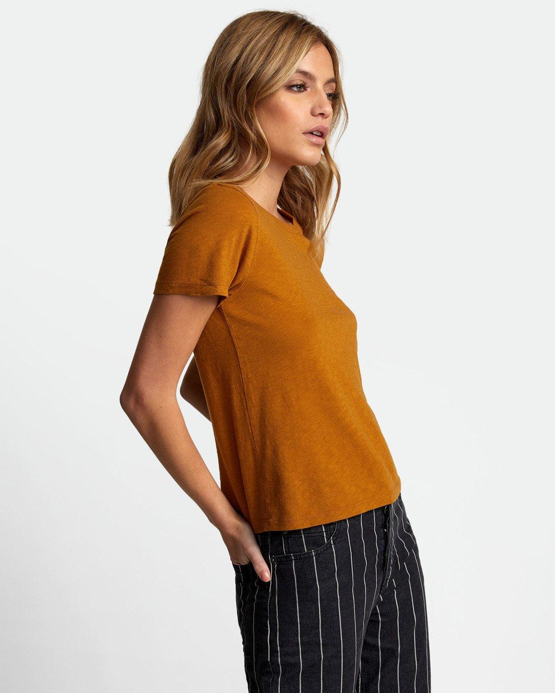 2 Solid Label Baby T-Shirt Orange W433URLA RVCA