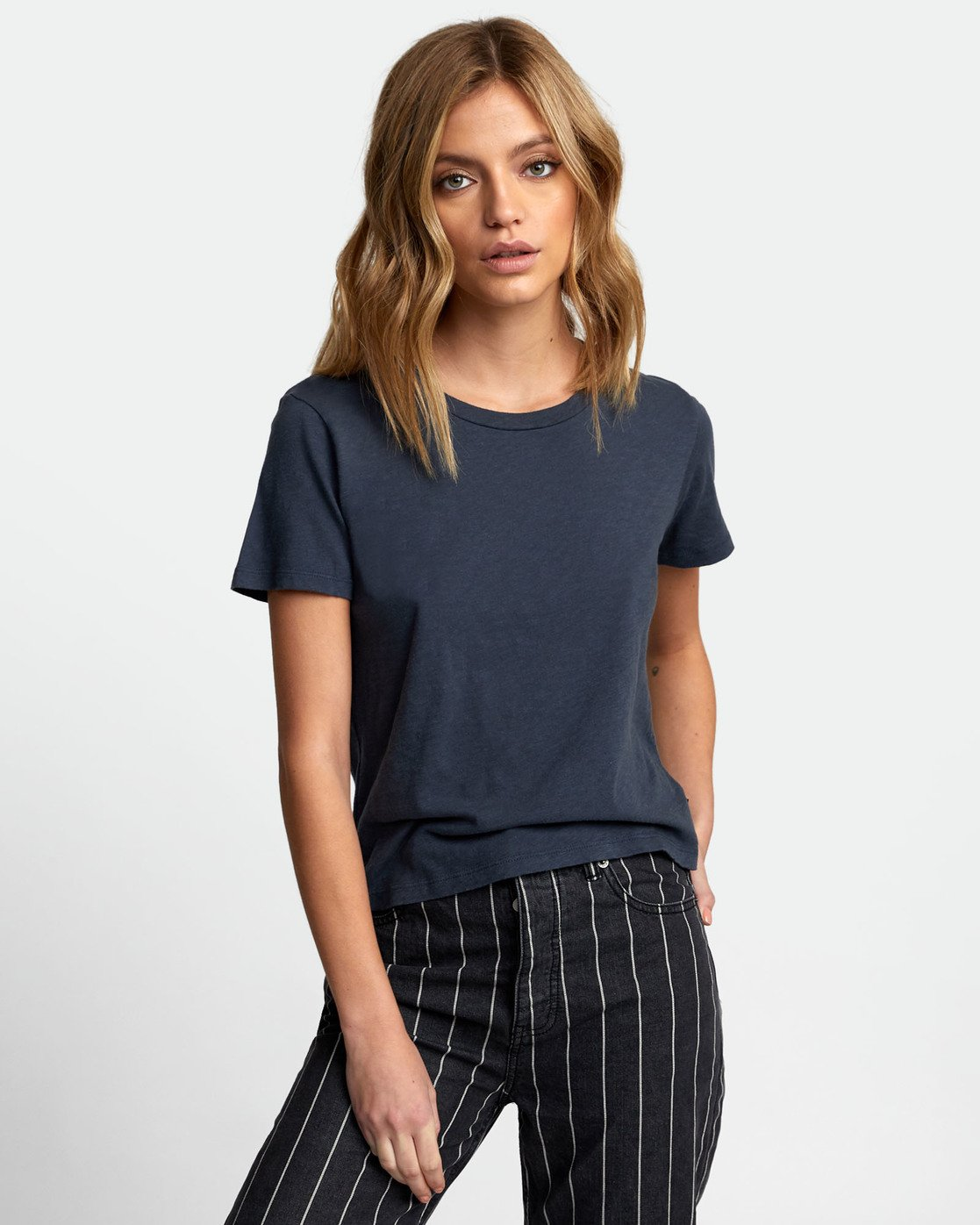 1 Solid Label Baby T-Shirt Blue W433URLA RVCA