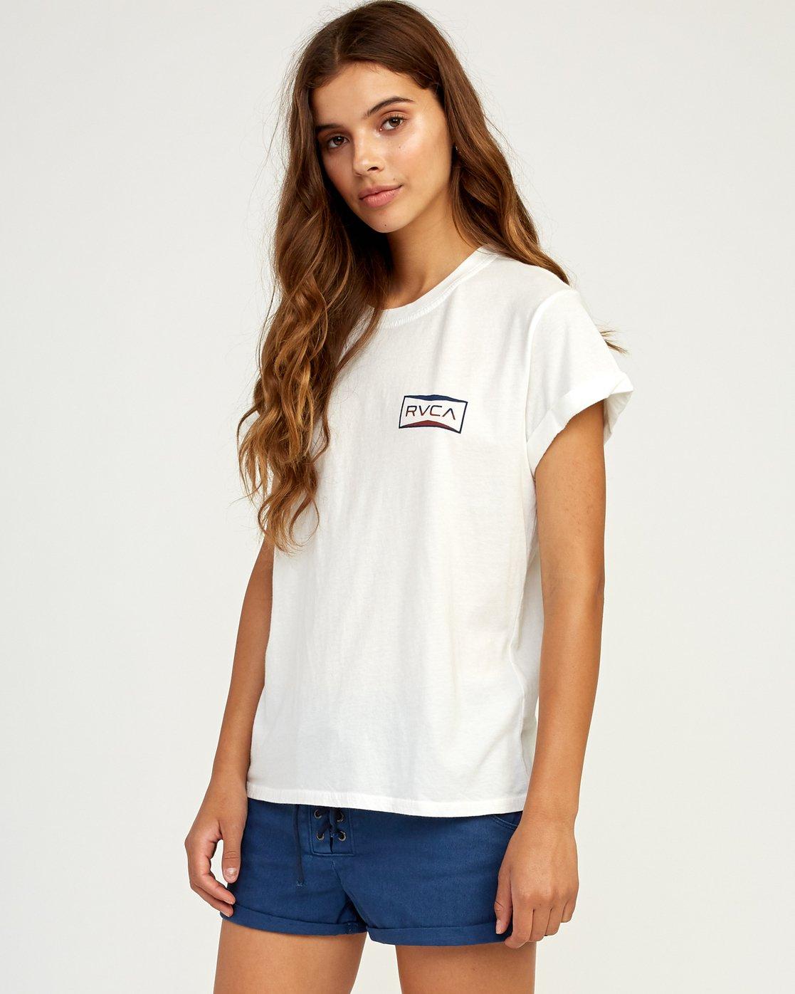 1 Balance T-Shirt White W436TRBA RVCA