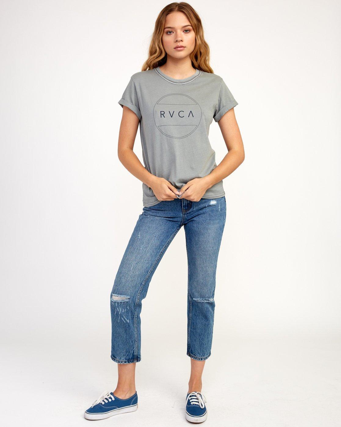 4 Billiard T-Shirt Grey W436TRBI RVCA