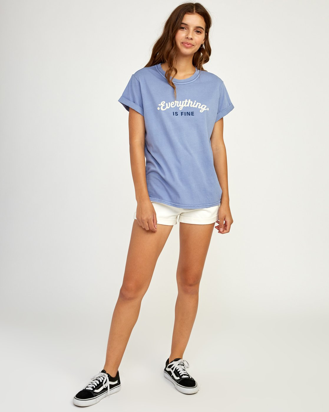 4 Everything Is Fine T-Shirt Blue W436TREV RVCA