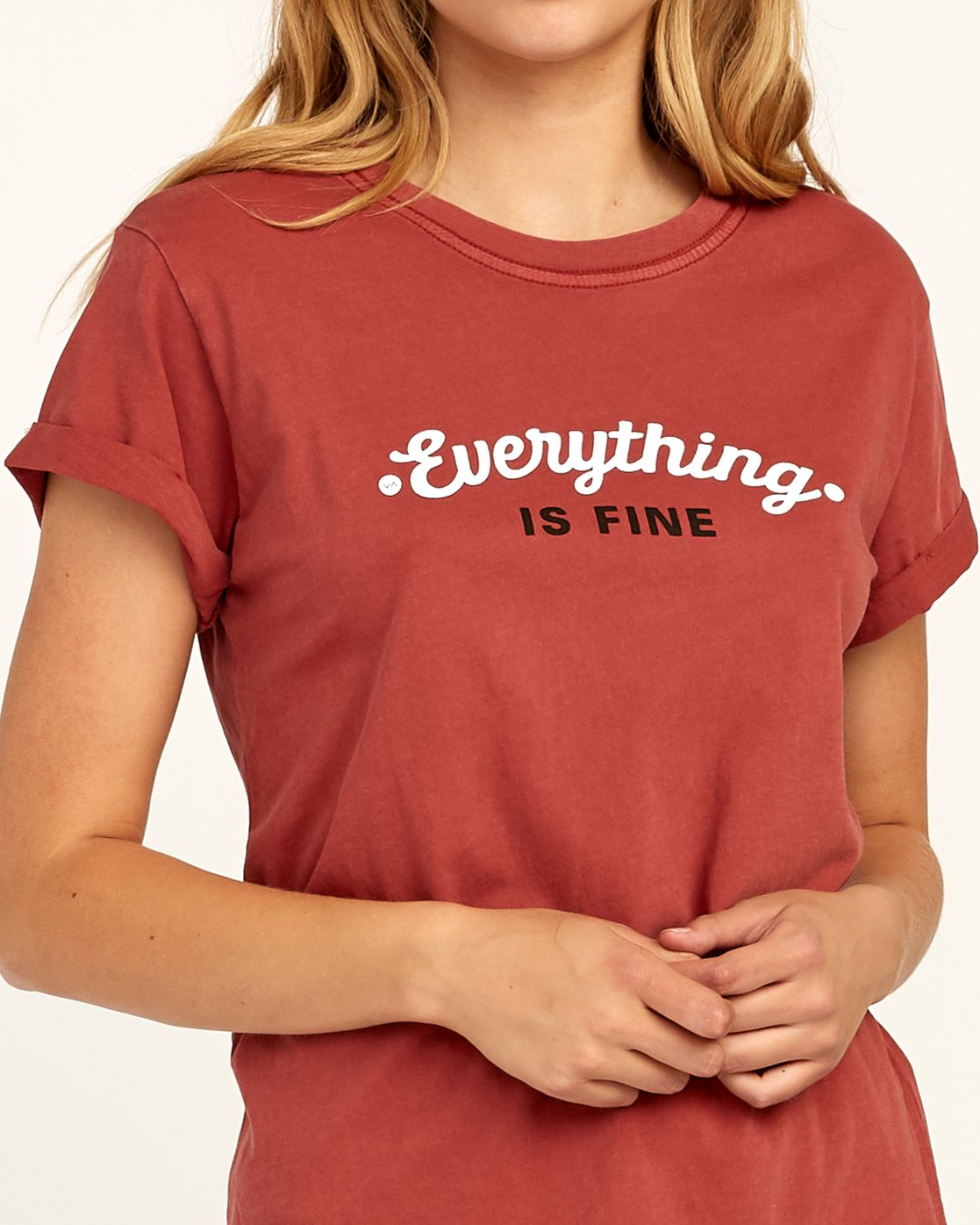 3 Everything Is Fine T-Shirt Red W436TREV RVCA