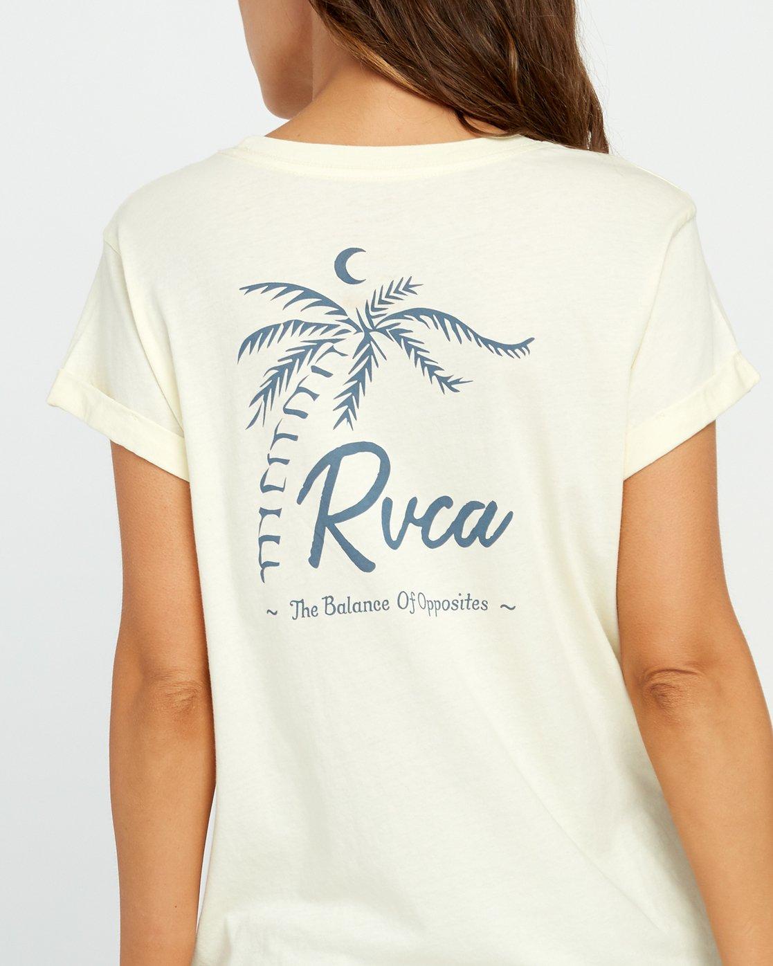 3 Mowgli Tropicale Cuffed Crew T-Shirt Yellow W436URTR RVCA