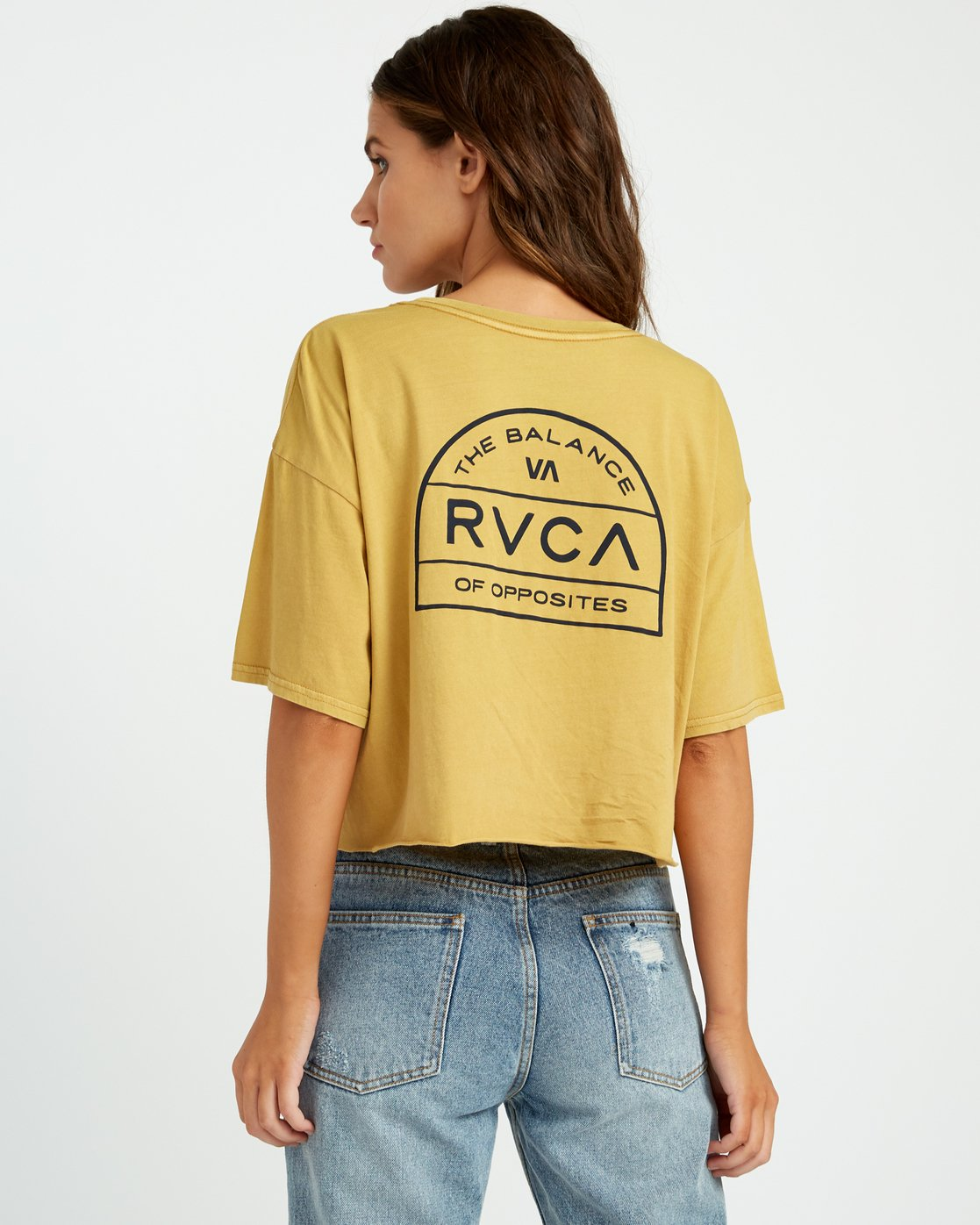 2 Joe Suzuki Archers Cropped T-Shirt Yellow W441URAR RVCA