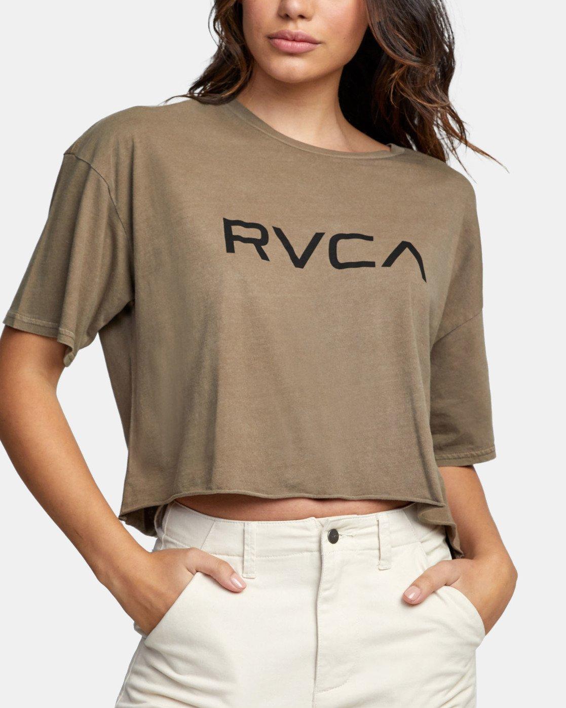 4 BIG RVCA CROP T-SHIRT Green W441WRBR RVCA