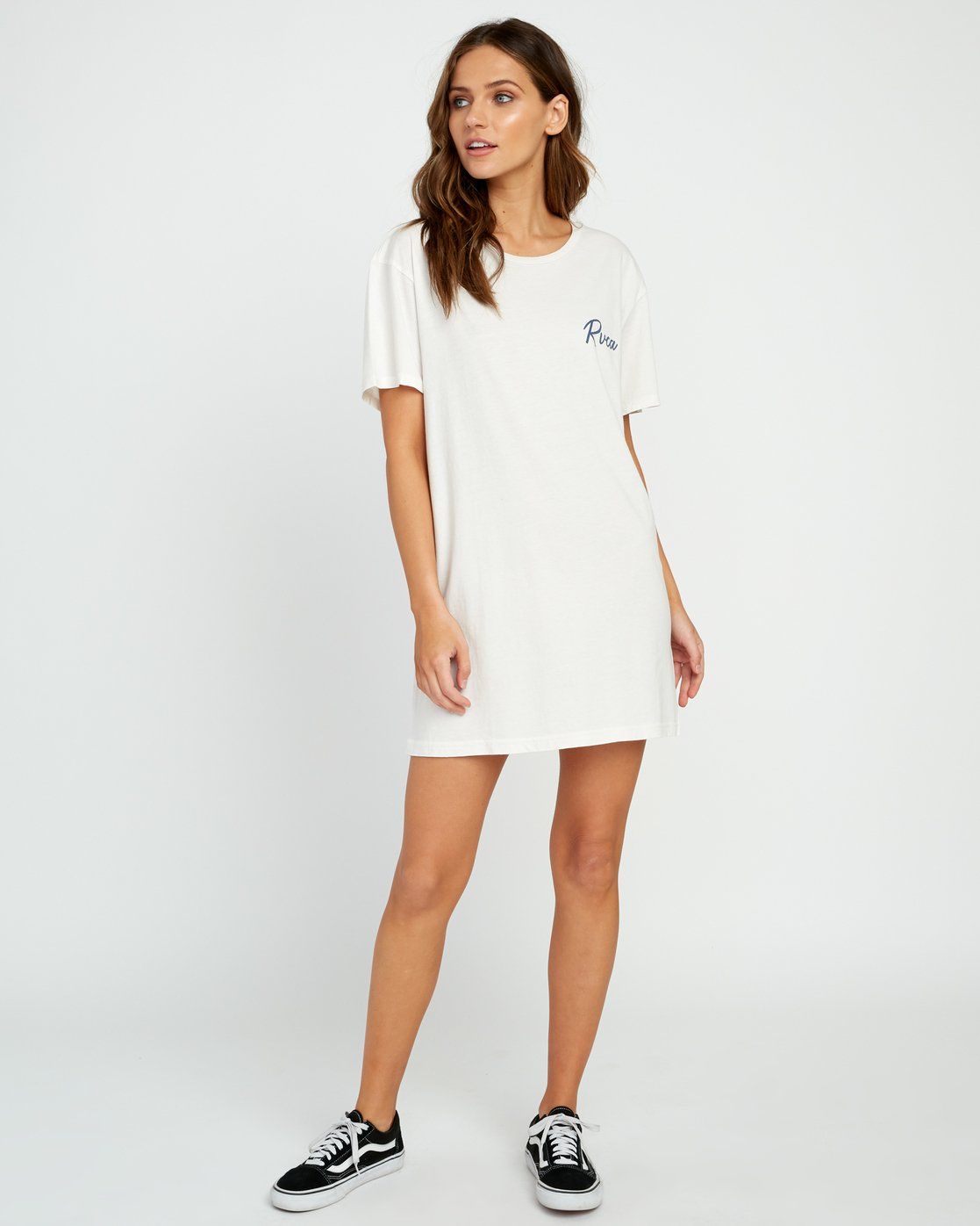 4 Next Wave T-Shirt Dress Grey W442URNE RVCA