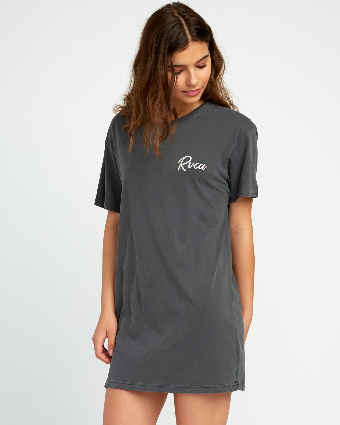1 Next Wave T-Shirt Dress Black W442URNE RVCA