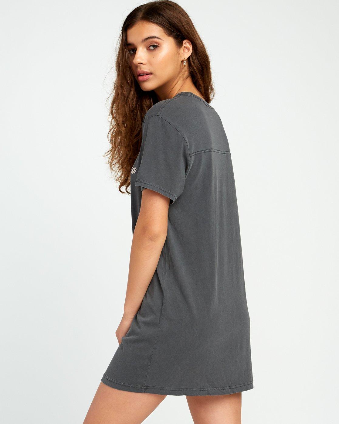 2 Next Wave T-Shirt Dress Black W442URNE RVCA