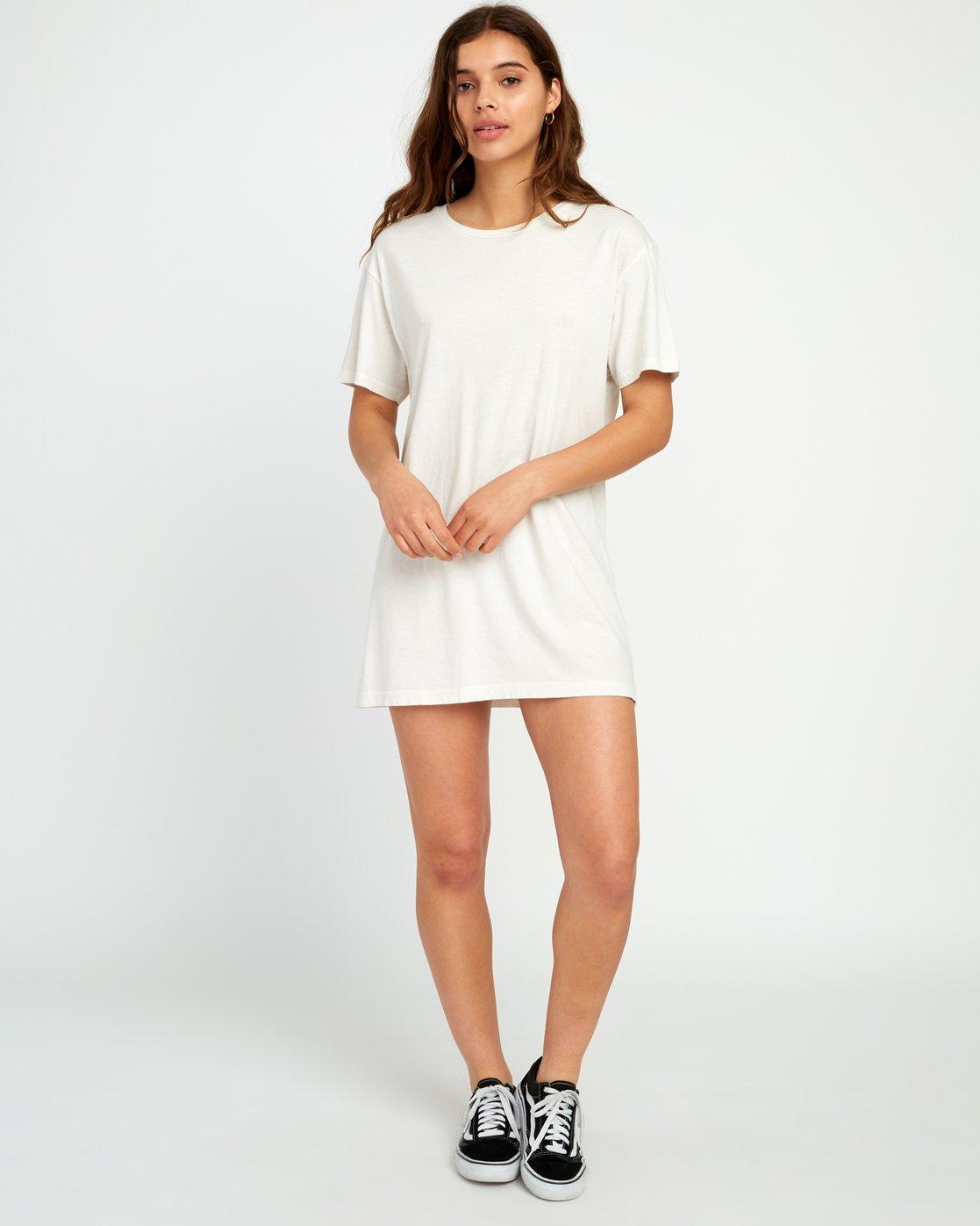4 Vinyl Knit T-Shirt Dress Grey W442URVI RVCA