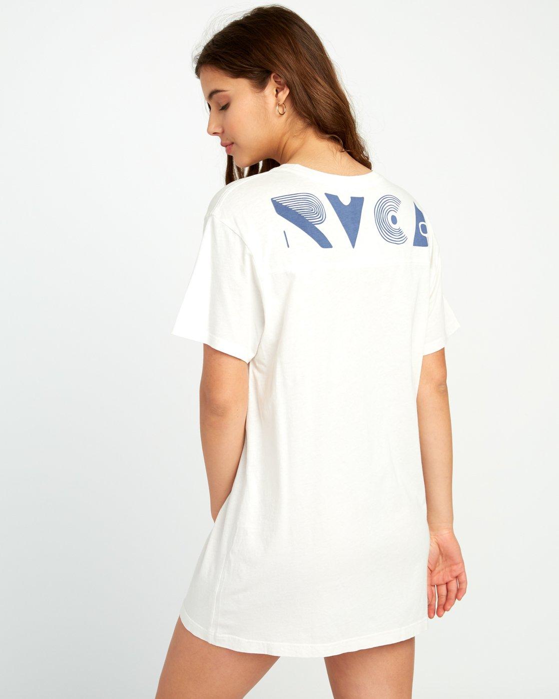 0 Vinyl Knit T-Shirt Dress Grey W442URVI RVCA