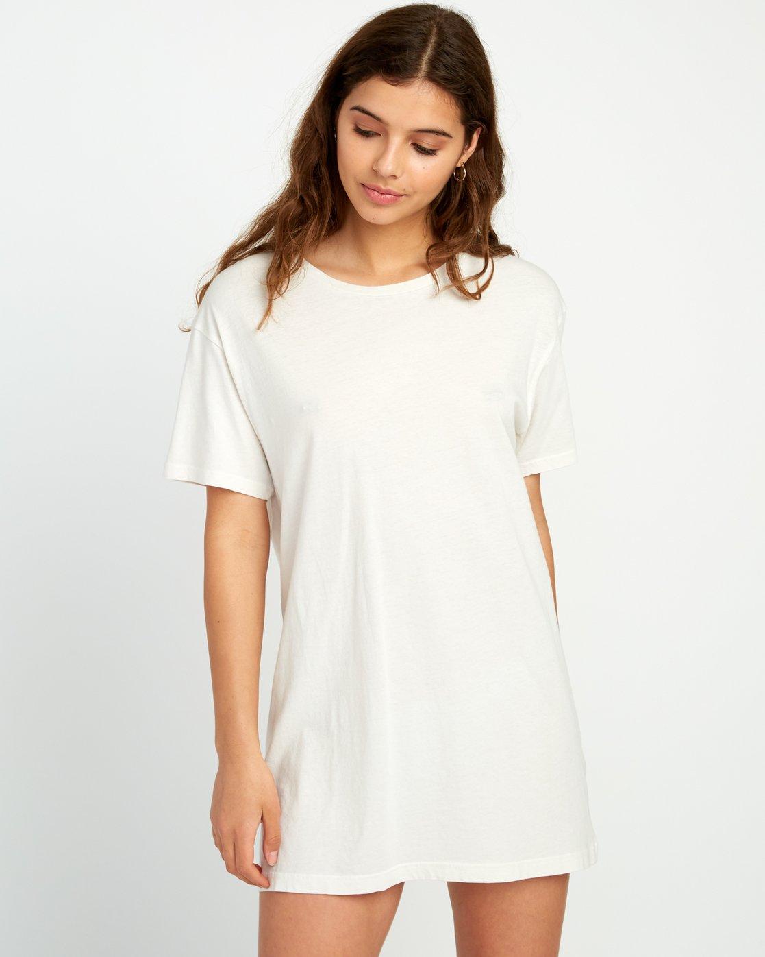 1 Vinyl Knit T-Shirt Dress Grey W442URVI RVCA