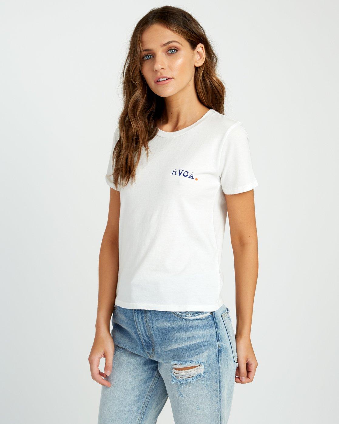 2 Johanna Olk Frosty Gaze Baby T-Shirt White W443URFR RVCA