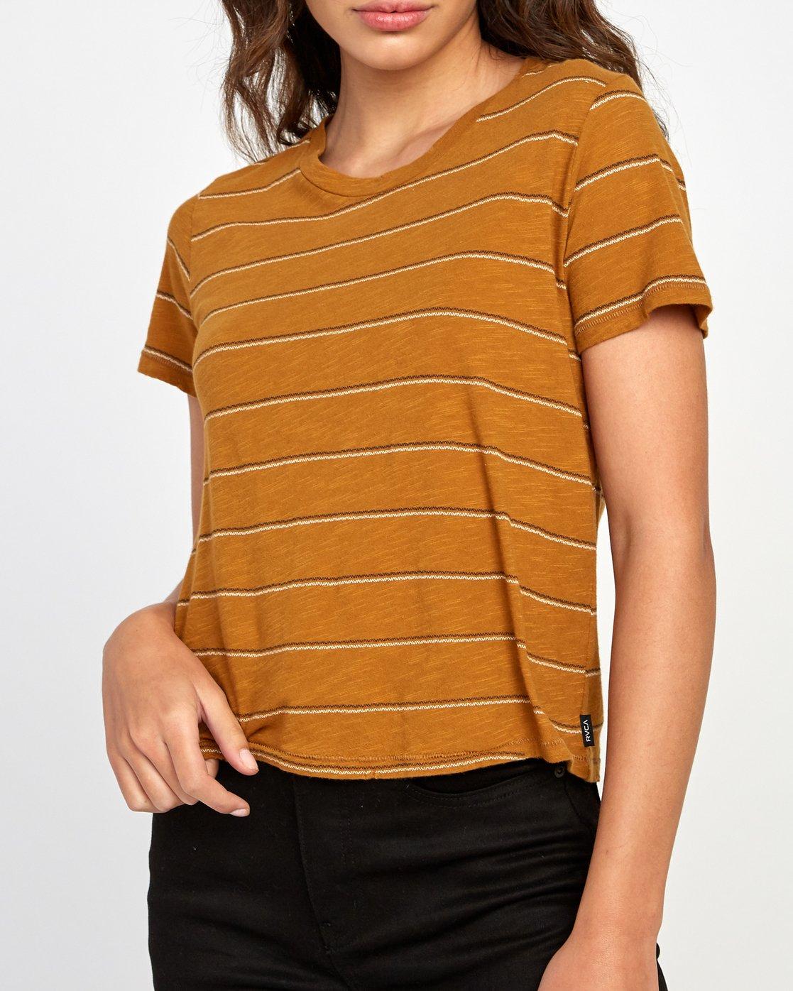 3 Sirens Striped Baby T-Shirt Orange W443VRSI RVCA