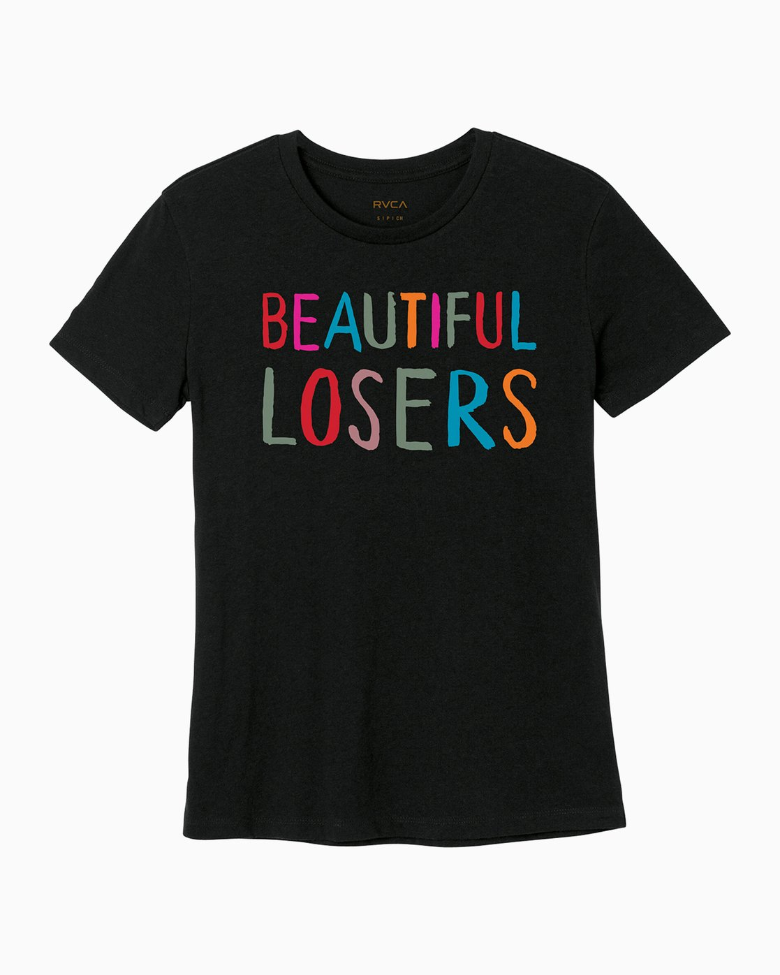 4 Beautiful Losers Womens T-Shirt Black W444QRBL RVCA
