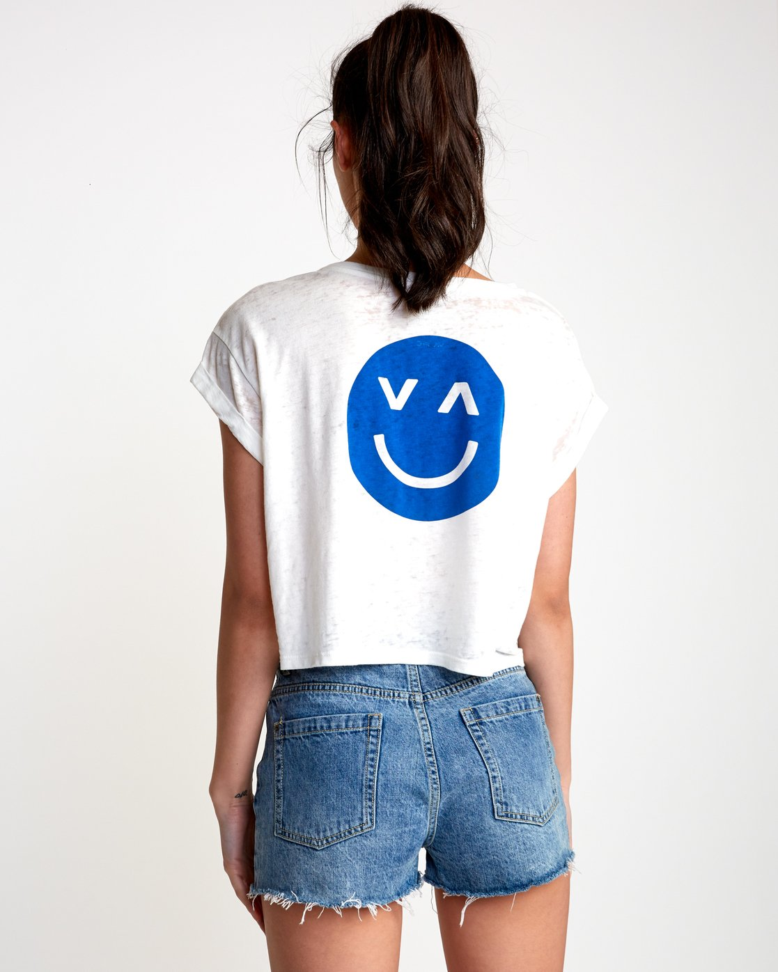 3 Happy Sad Cropped T-Shirt  W445VRHA RVCA