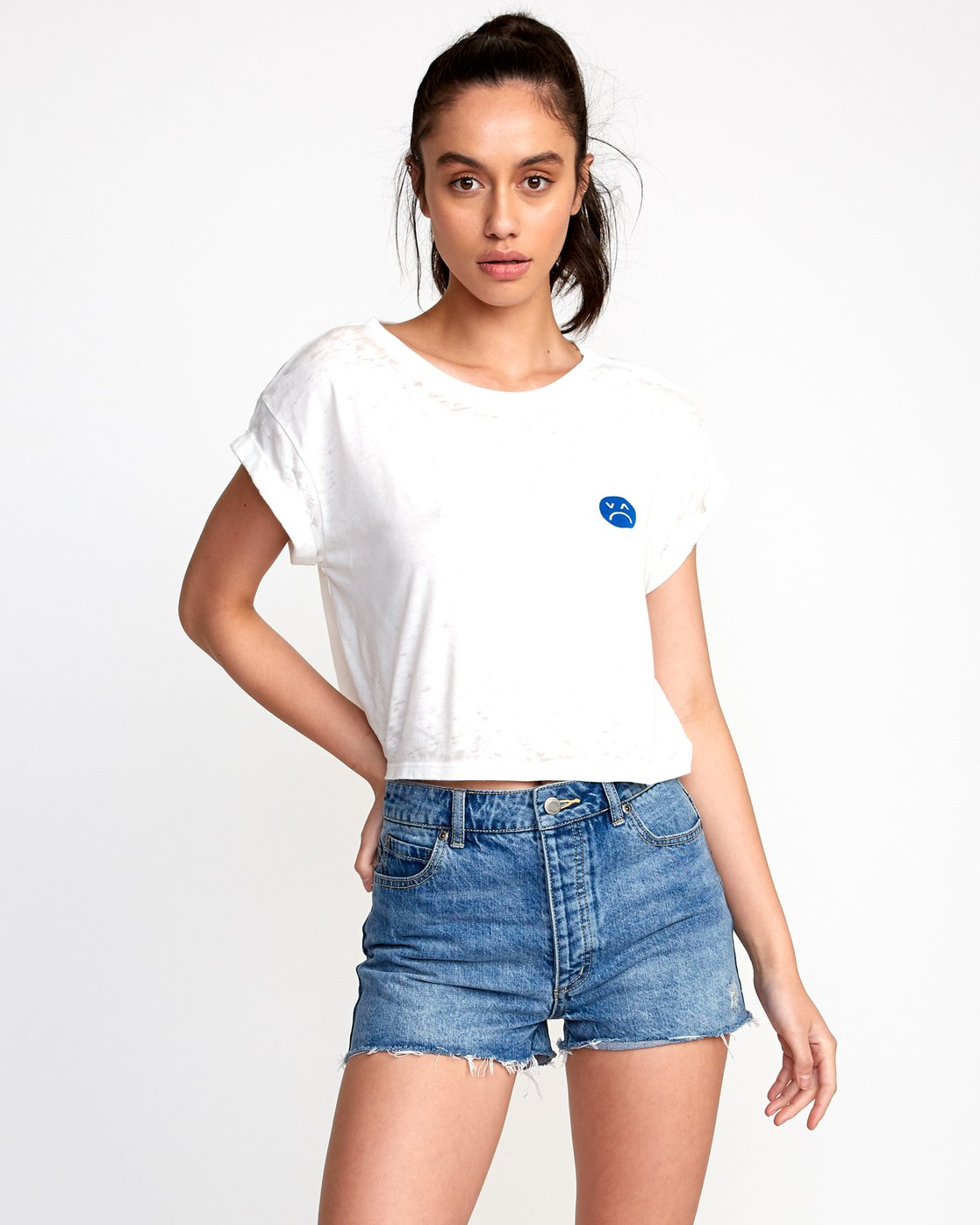 1 Happy Sad Cropped T-Shirt  W445VRHA RVCA