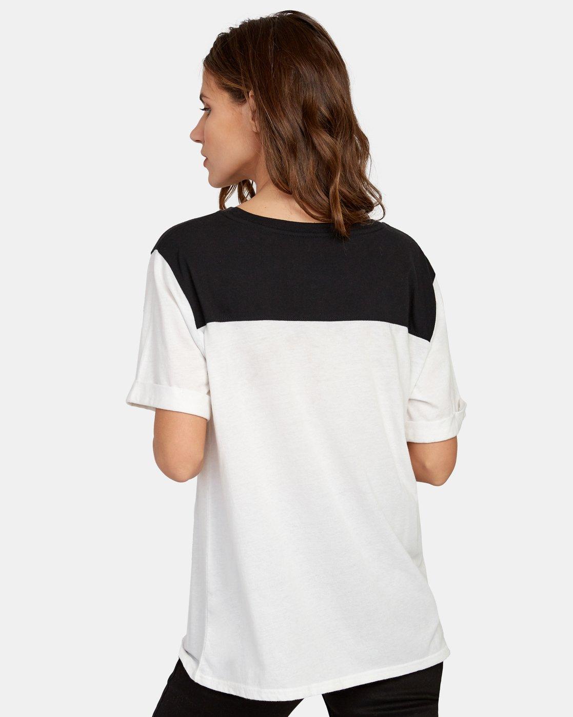 2 Cooper Burnout T-Shirt White W446WRCO RVCA
