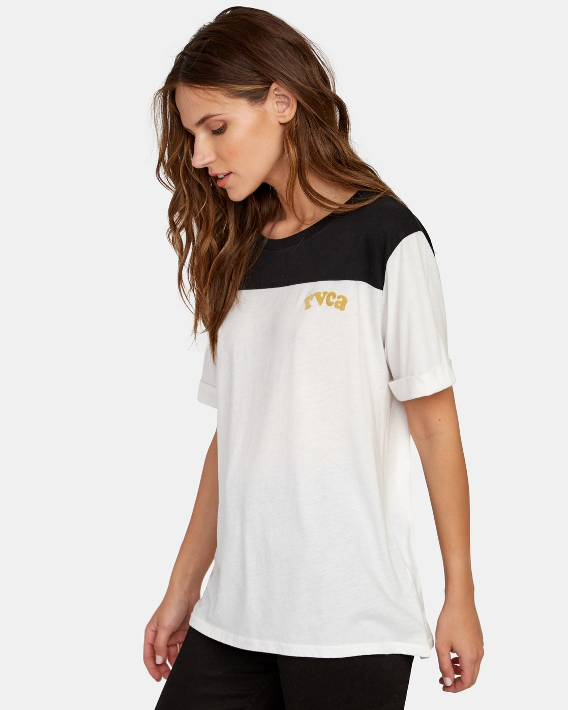 1 Cooper Burnout T-Shirt White W446WRCO RVCA