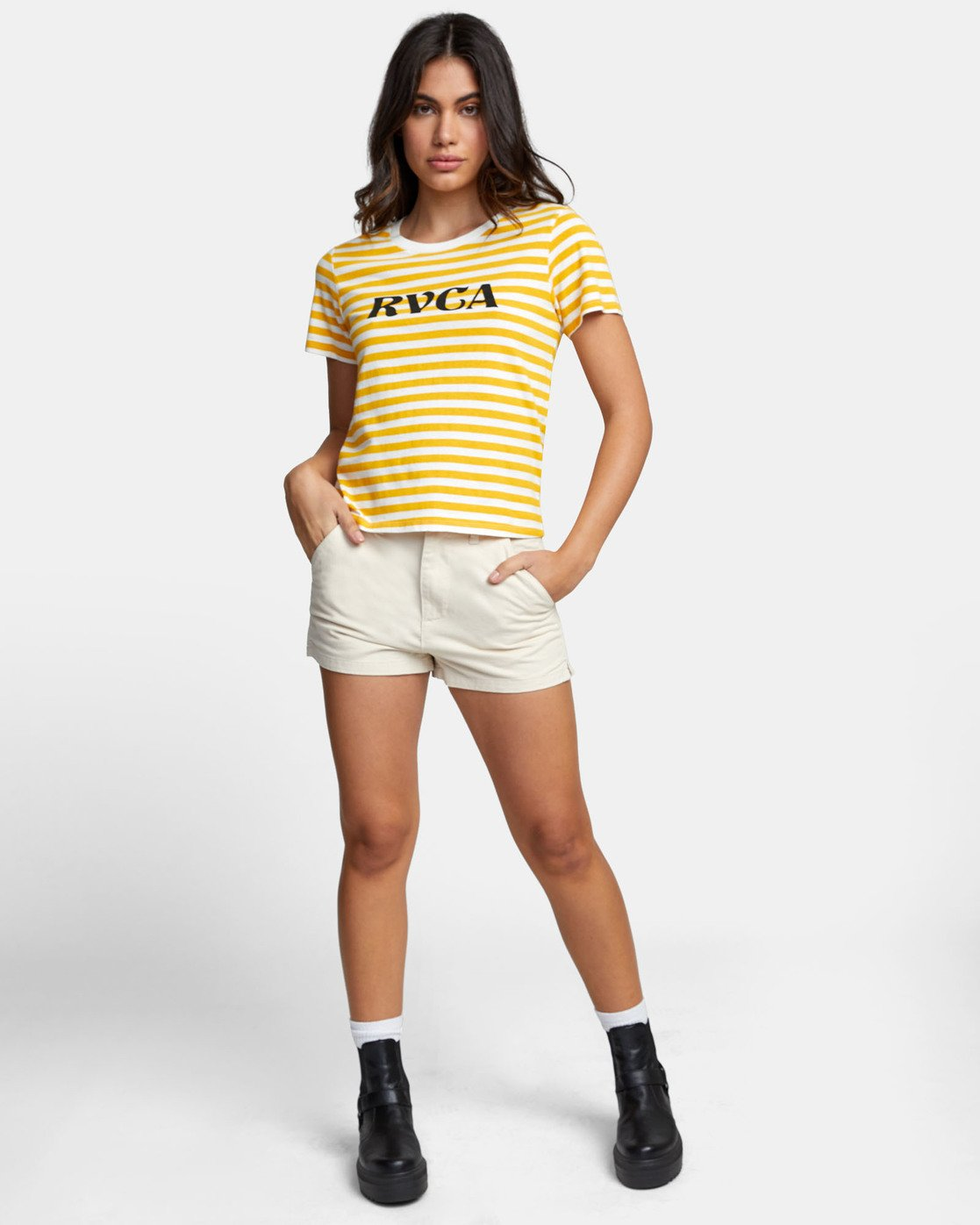 1 MURPHY STRIPED T-SHIRT White W4471RMU RVCA