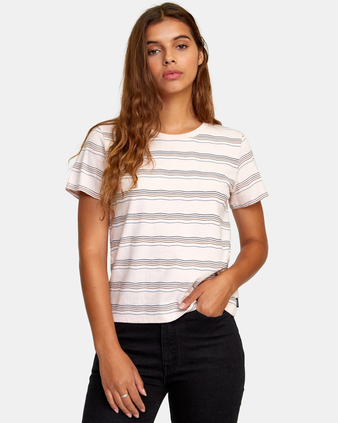 0 Wavy Striped Baby T-Shirt Grey W447WRWA RVCA