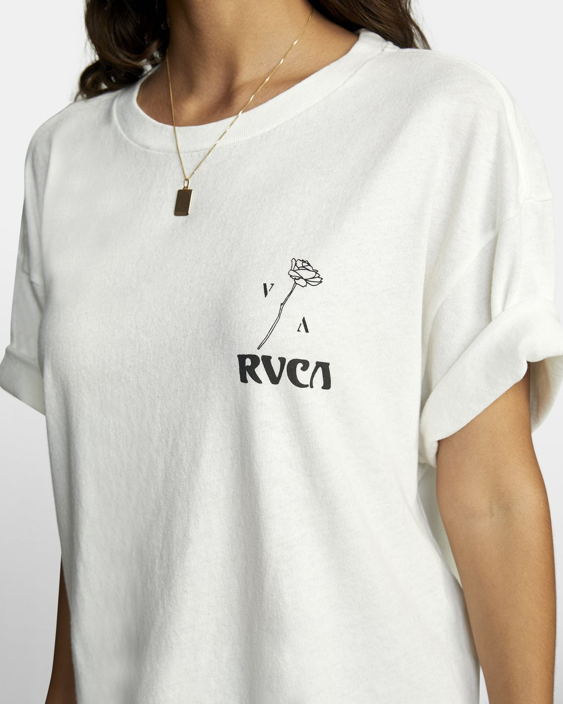 4 BALANCE ROLL IT TEE White W4493RBA RVCA