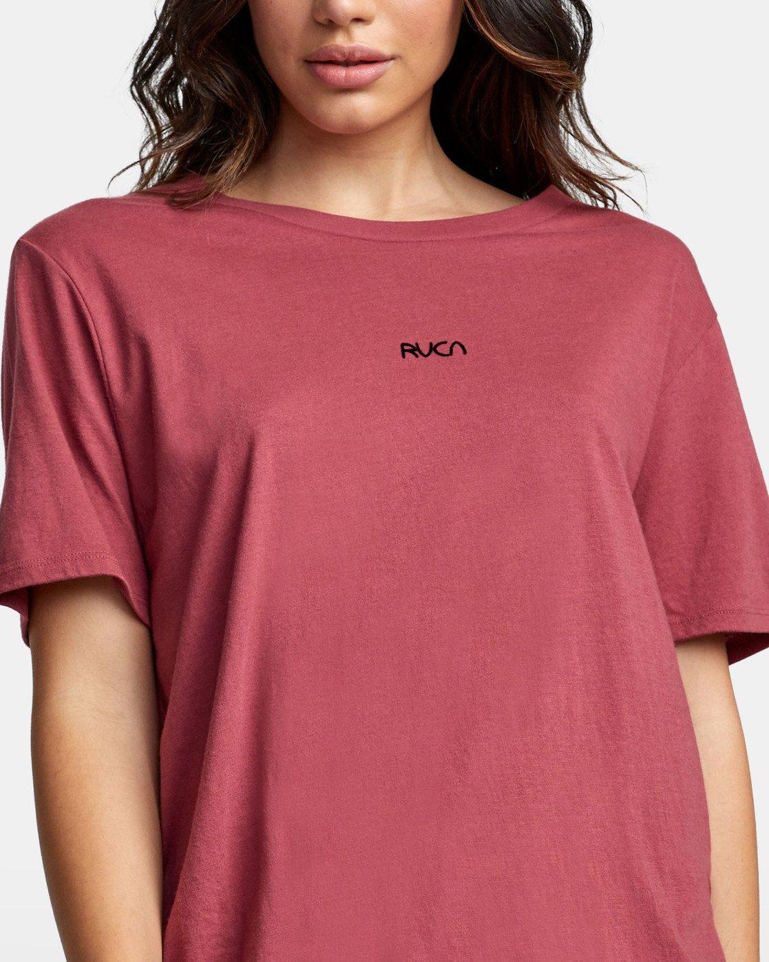 4 FINE LINE T-SHIRT Pink W4501RFL RVCA