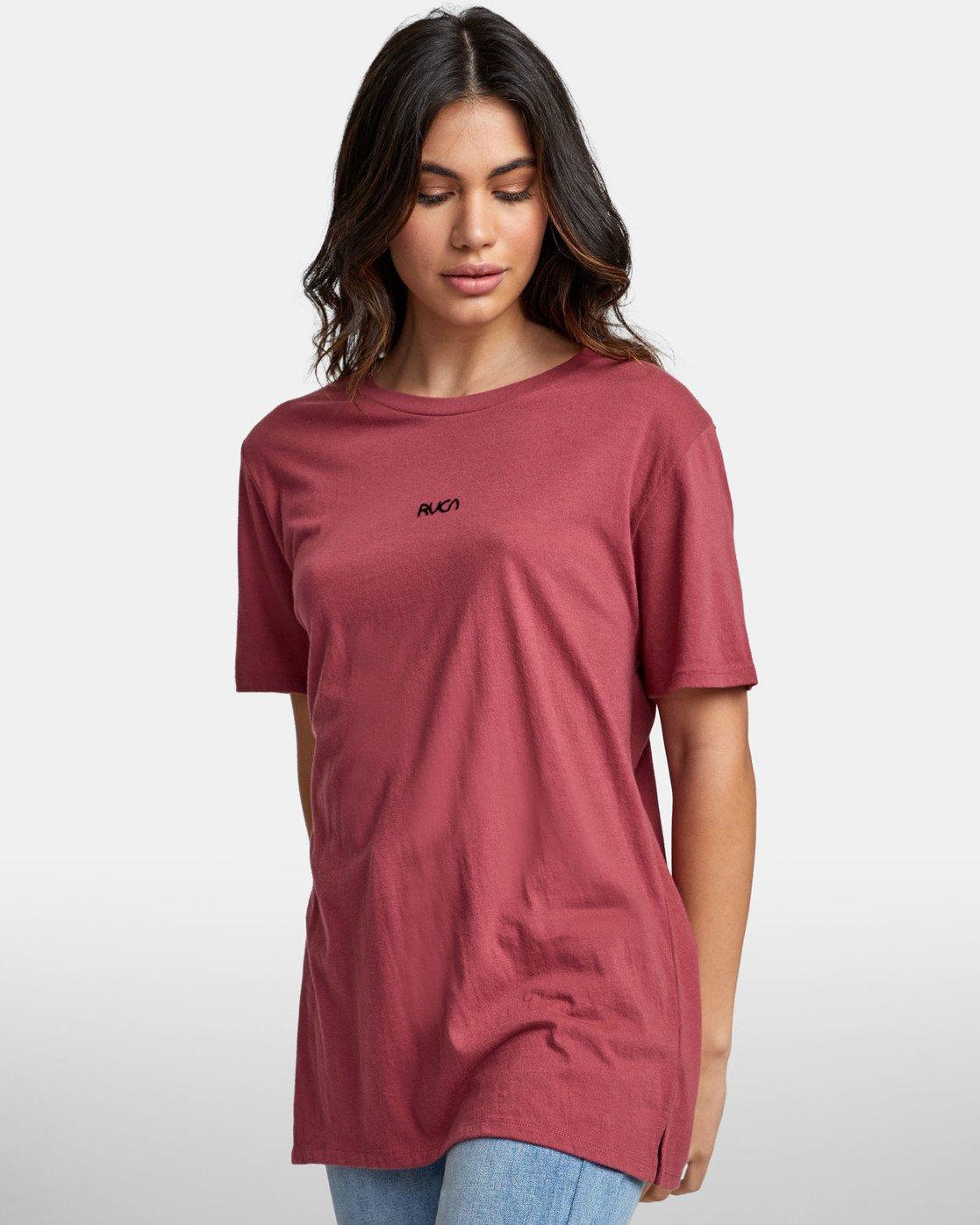 2 FINE LINE T-SHIRT Pink W4501RFL RVCA