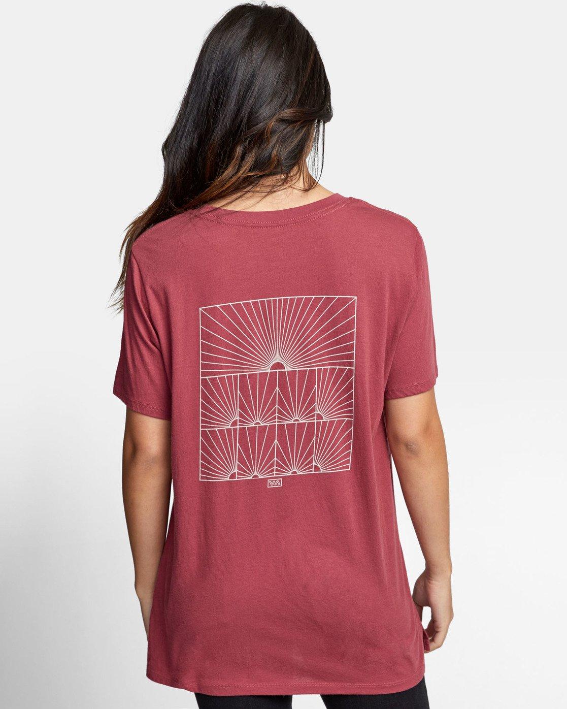 3 SUNRISE T-SHIRT Pink W4501RSR RVCA