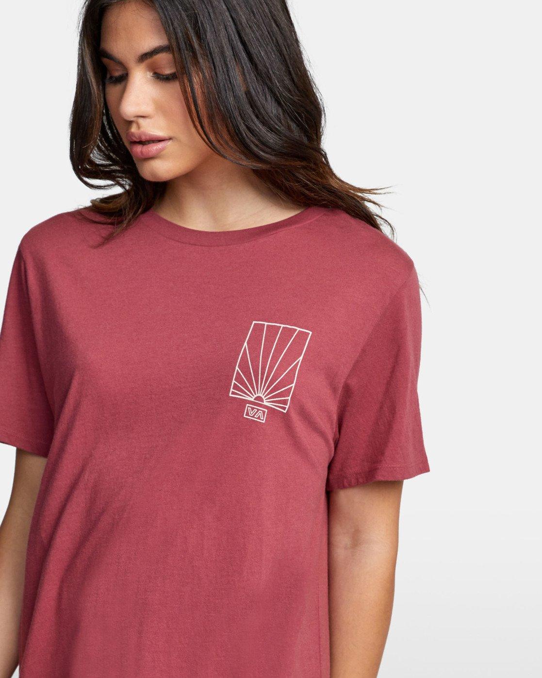 5 SUNRISE T-SHIRT Pink W4501RSR RVCA