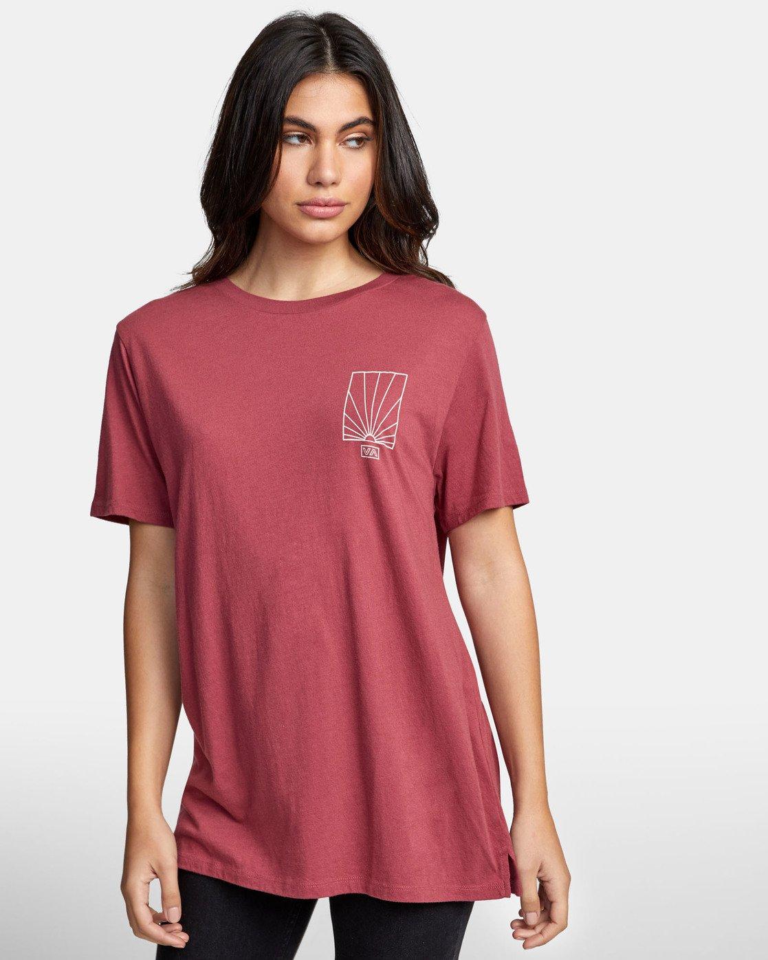 0 SUNRISE T-SHIRT Pink W4501RSR RVCA