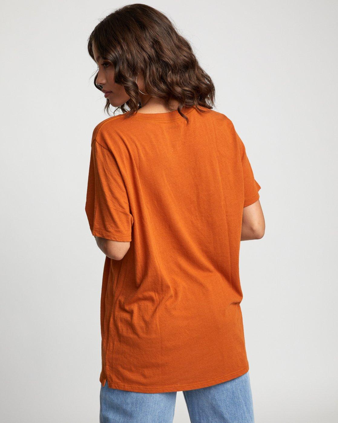 1 LUNA MOTH TEE Orange W4503RLM RVCA