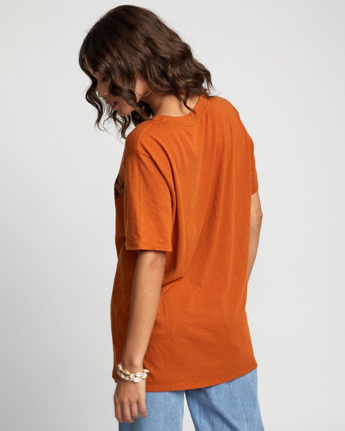 4 LUNA MOTH TEE Orange W4503RLM RVCA