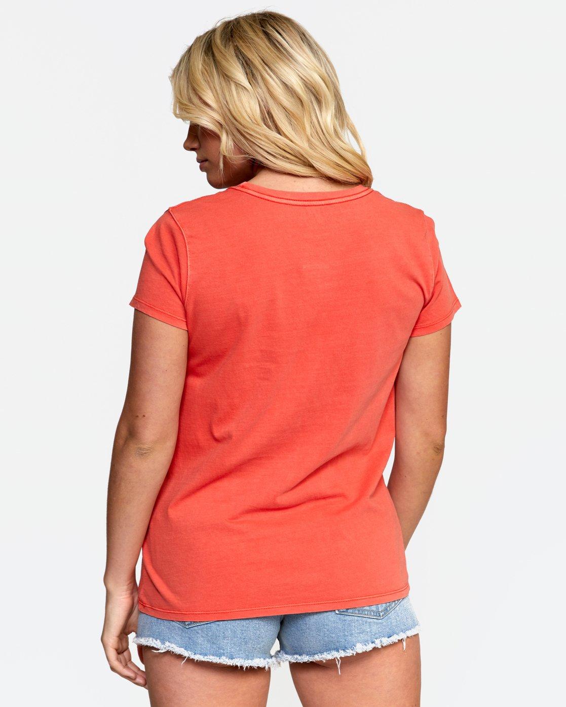 4 ALOHA SHOP TEE Orange W4532RAS RVCA