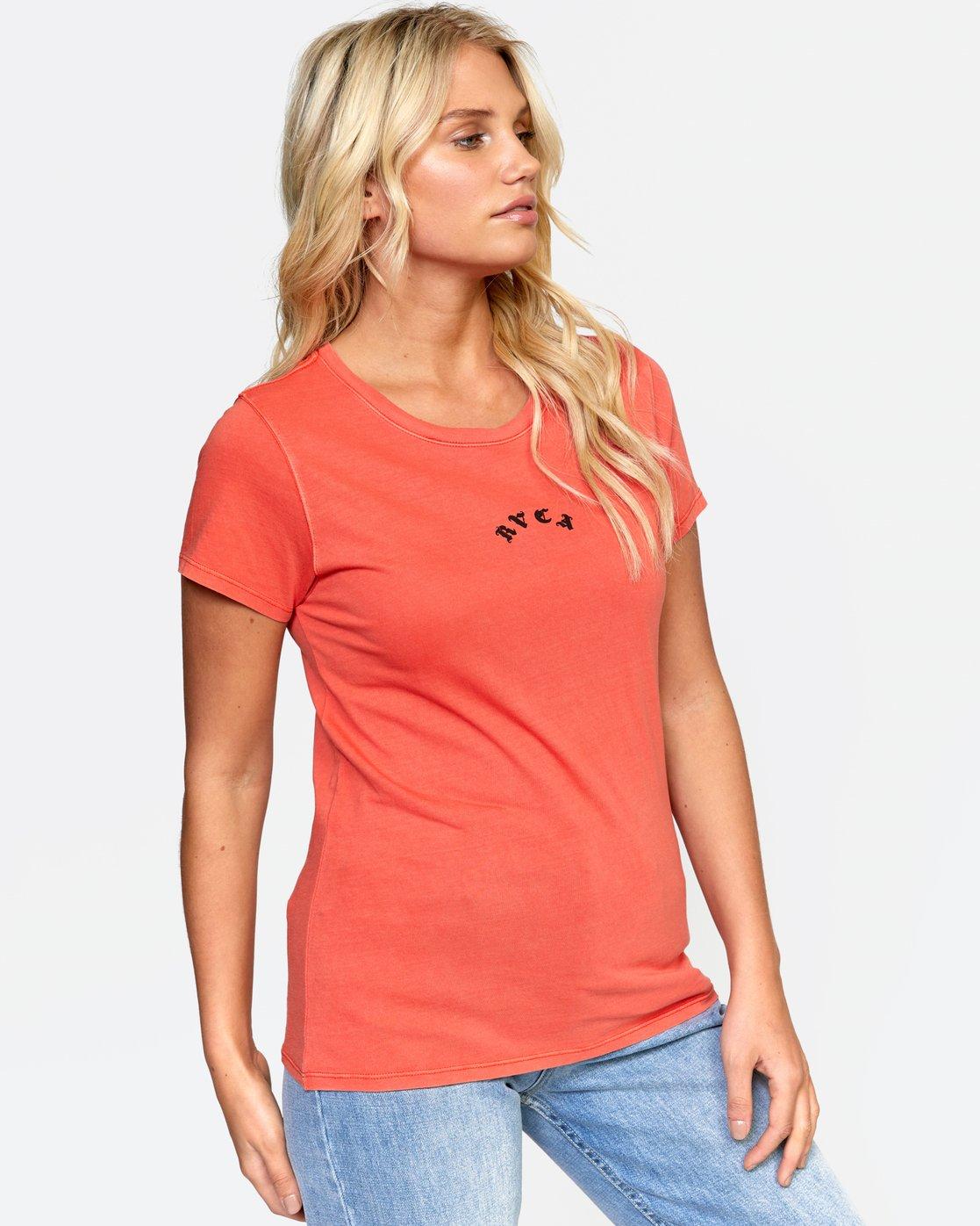 2 LA TIGE TEE Orange W4532RLT RVCA