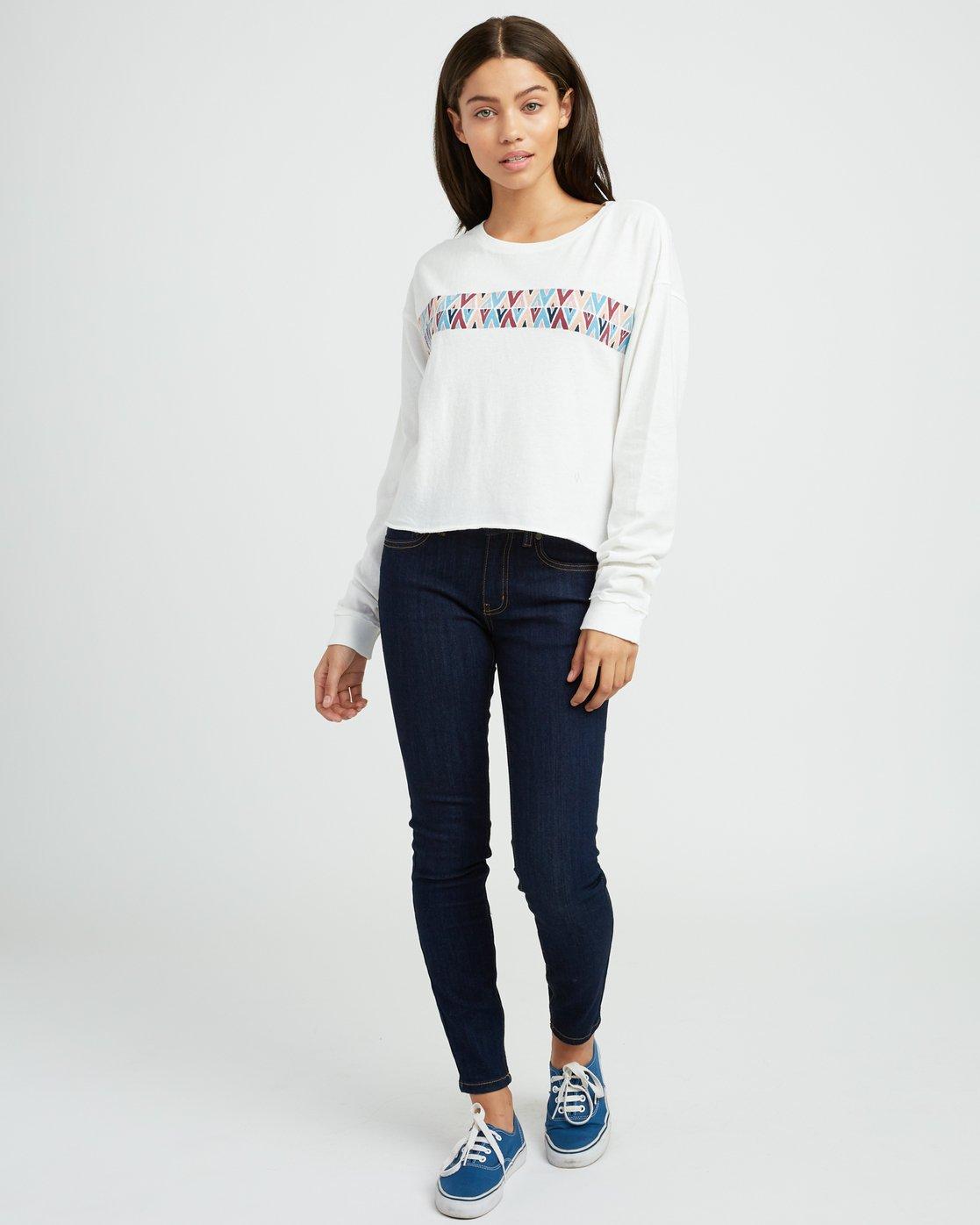 4 Mod Stripe Knit T-Shirt White W458SRMO RVCA