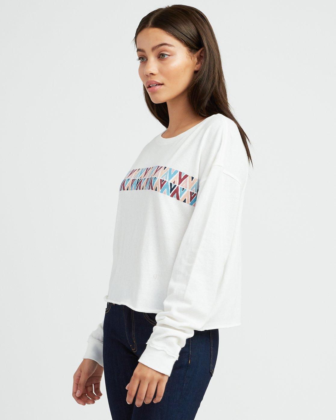 1 Mod Stripe Knit T-Shirt White W458SRMO RVCA