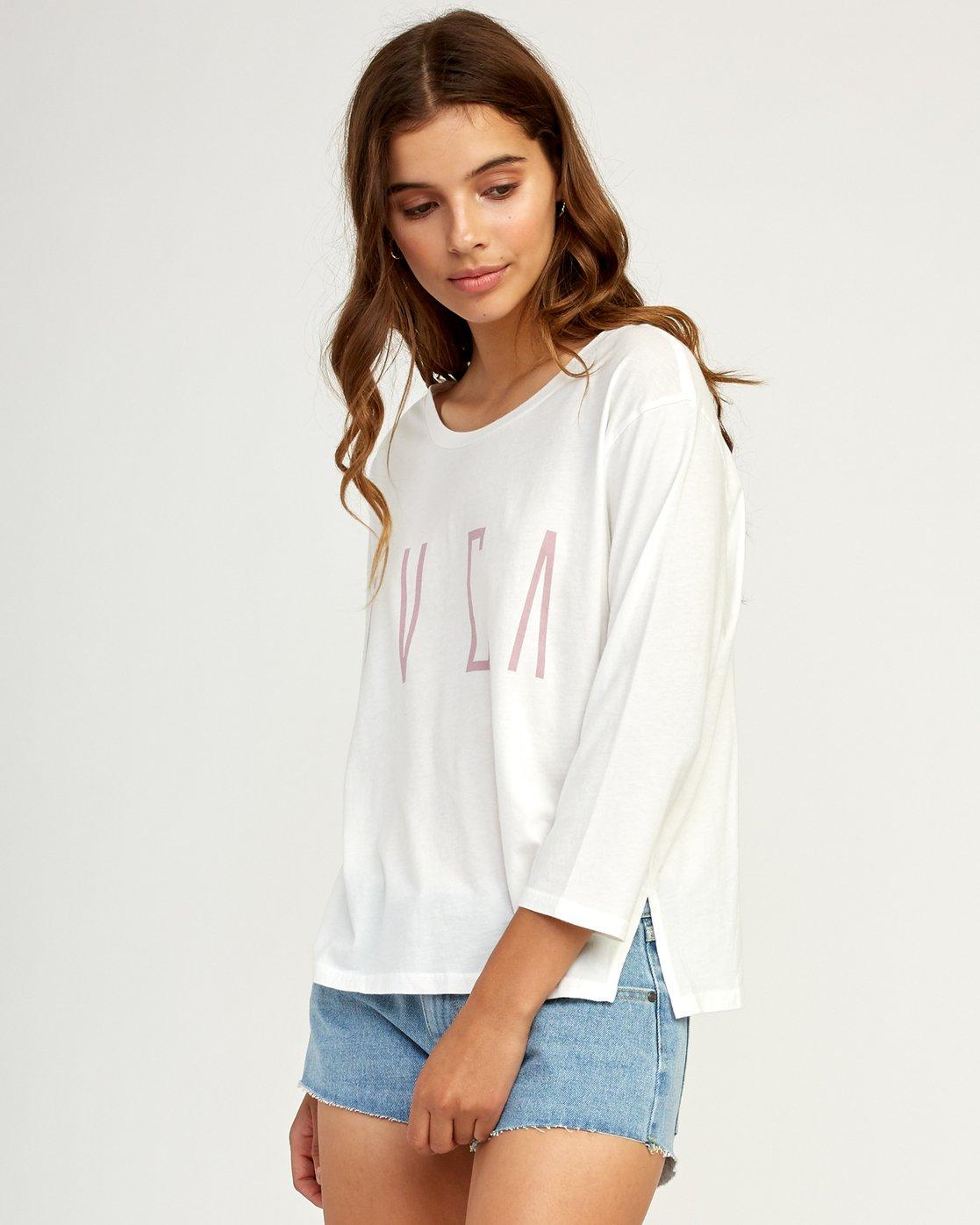 1 Stilt Long Sleeve T-Shirt White W463TRST RVCA