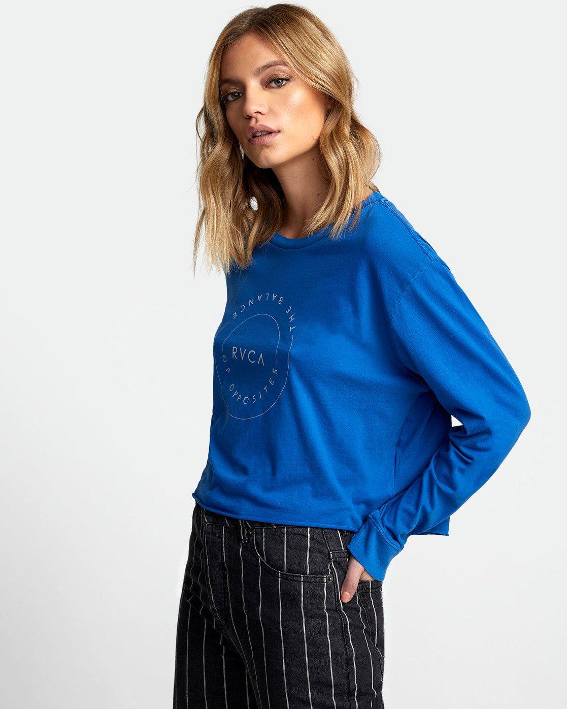 2 Inner Opposites Long Sleeve T-Shirt Blue W467VRIN RVCA