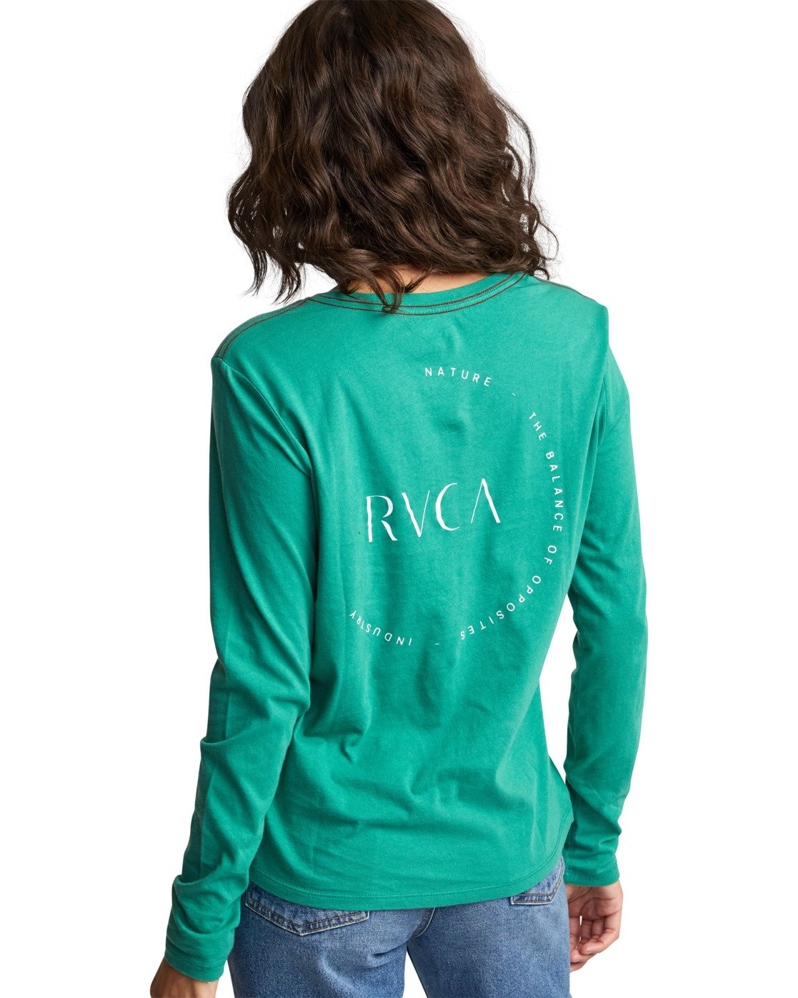 7 ENCIRCLED LONG SLEEVE T-SHIRT Brown W4683REC RVCA
