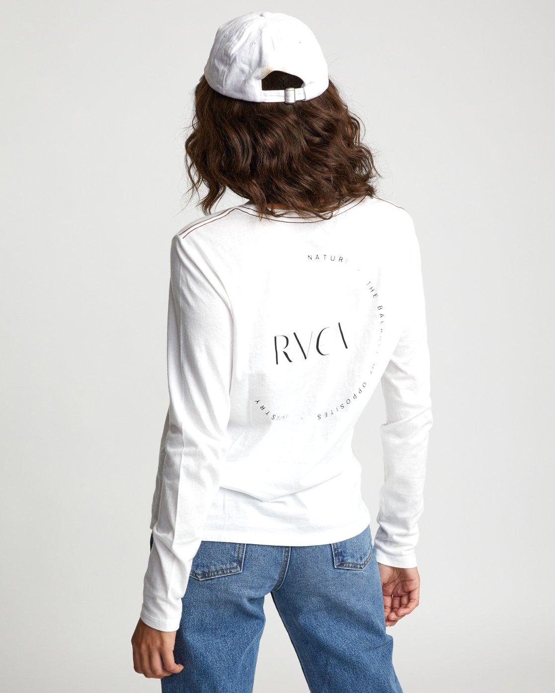 4 ENCIRCLED LONG SLEEVE T-SHIRT White W4683REC RVCA