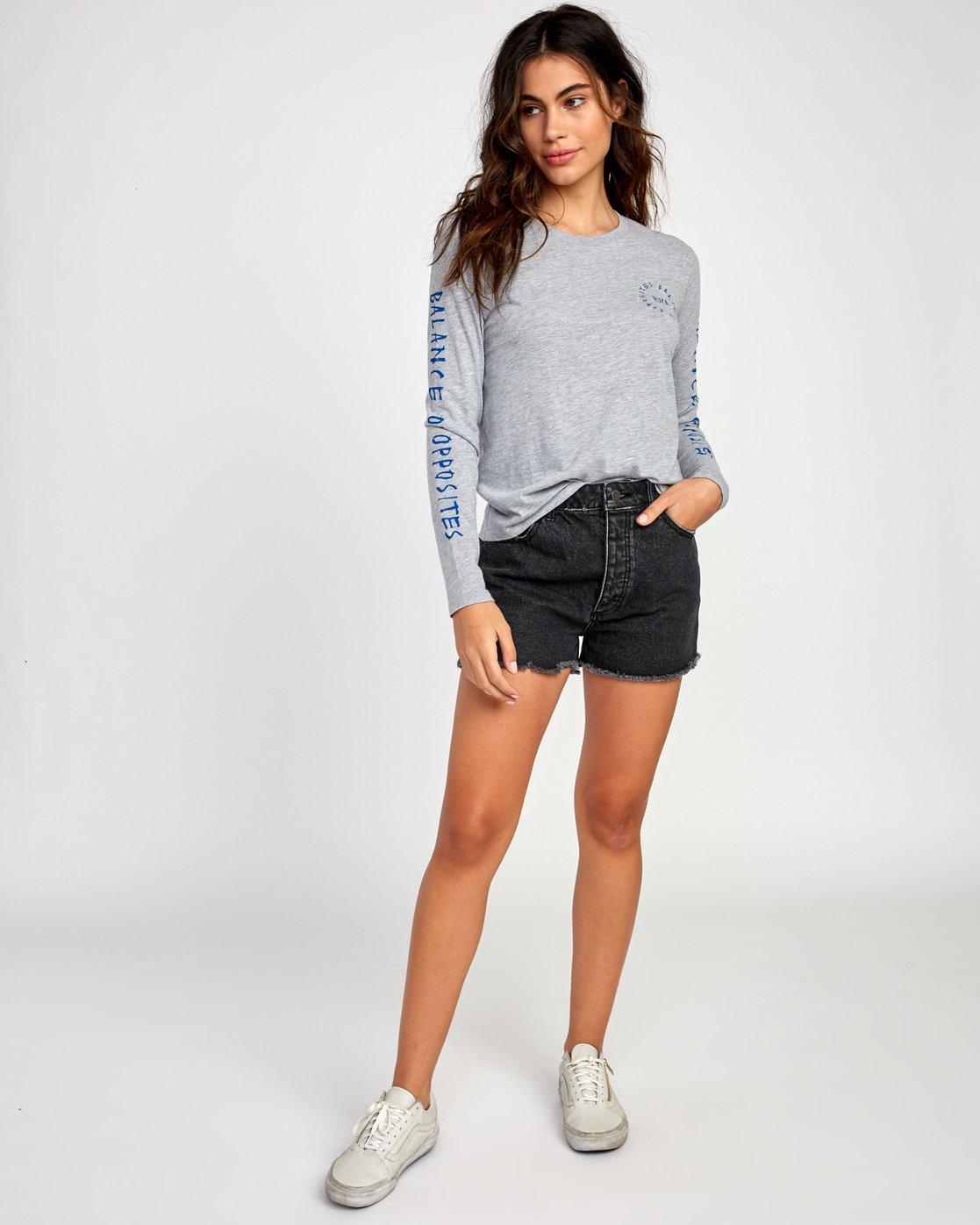 4 Hortonsphere Long Sleeve T-Shirt Grey W468VRHO RVCA