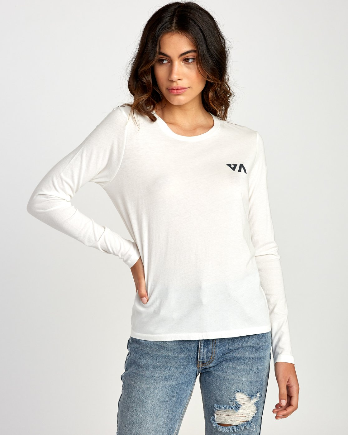 1 Paradise Long Sleeve T-Shirt White W468VRPH RVCA