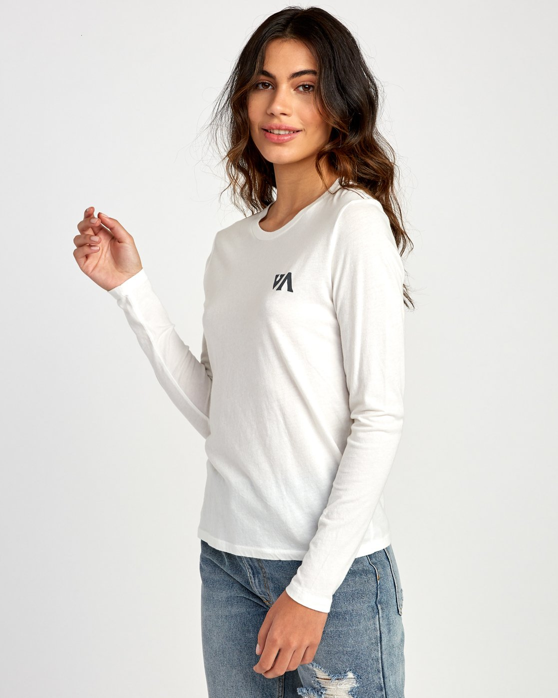 2 Paradise Long Sleeve T-Shirt White W468VRPH RVCA