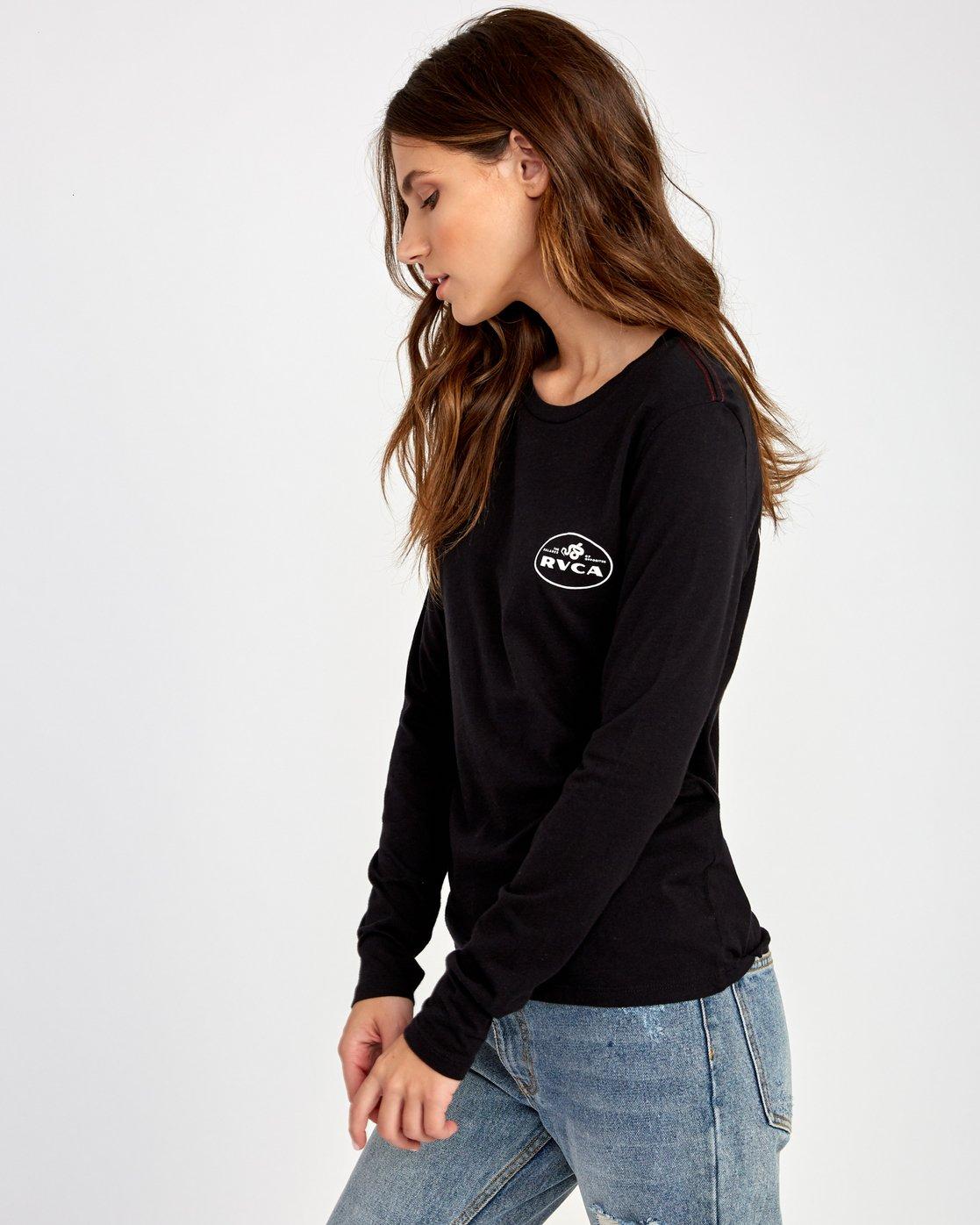 2 Serpent Long Sleeve T-Shirt Black W468VRSE RVCA