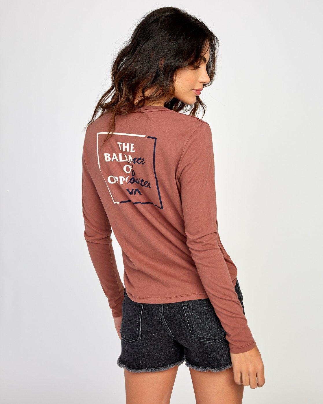 0 Teared Long Sleeve T-Shirt Brown W468VRTE RVCA